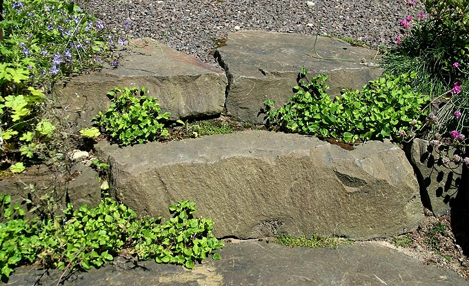 Basalt rock step, the most economical landscape step we make....and among the most durable.