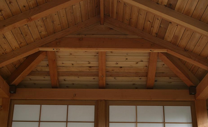 Japanese teahouse interior detail by Guy Feldman. Carpentry by Kris. 2011.