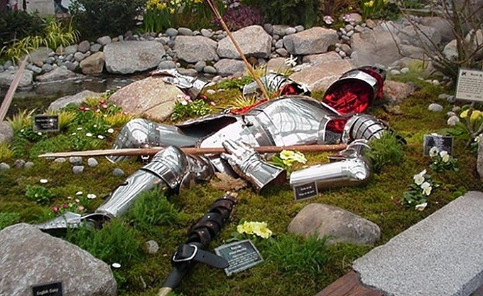 The fallen King Arthur at