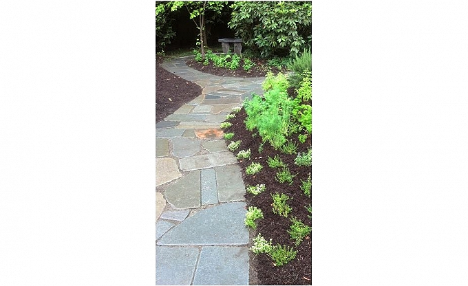 We finished a long bluestone walk for a nice client in Medina.