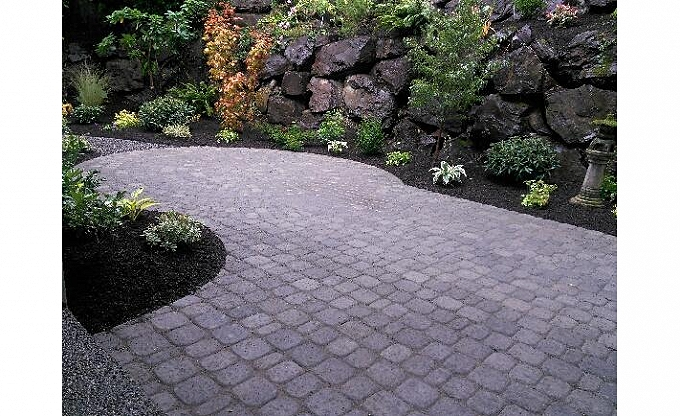 Juan sends this phone pic of his progress on a Mercer Island patio area. (September 2014)
