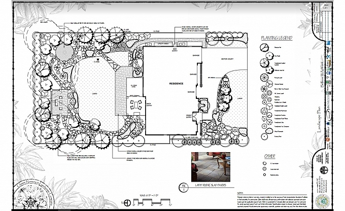 Landscape plan for a project in Bellevue