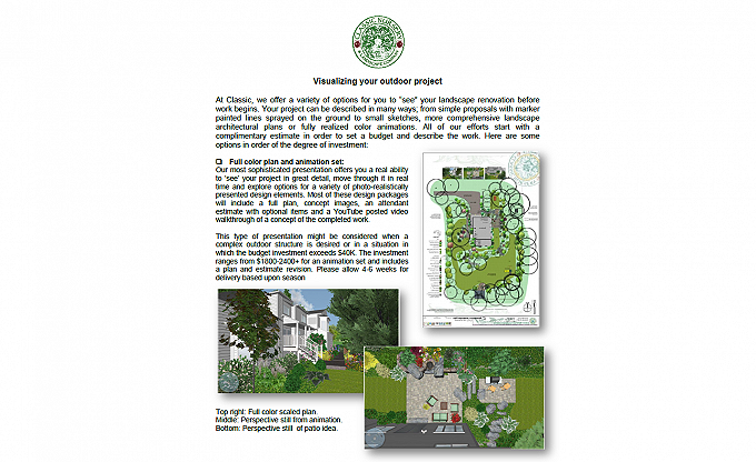 See our 'Visualizing your Landscape' pdf upload on our Resources/Download page