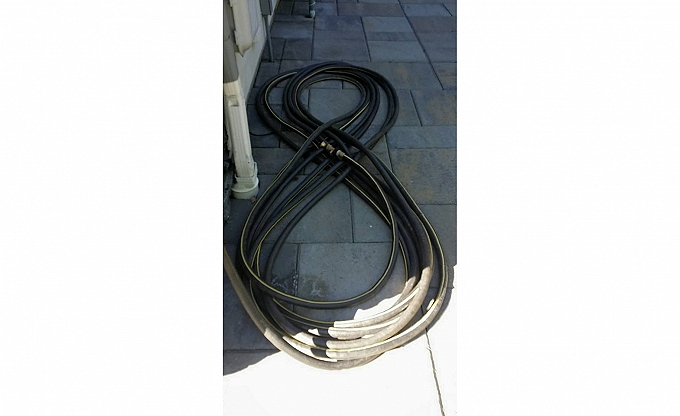 You know your client has high standards and is organized when he coils his hoses military style...