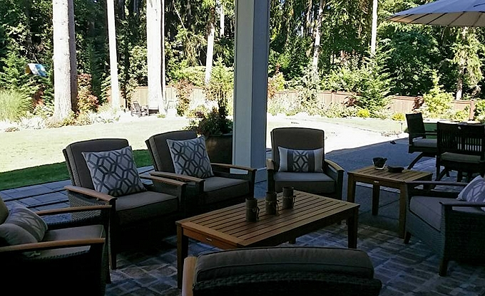 A view from the upper patio seating area....